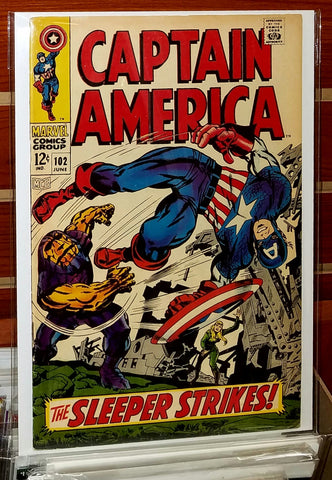 Captain America #102 (1968) Jack Kirby Cover