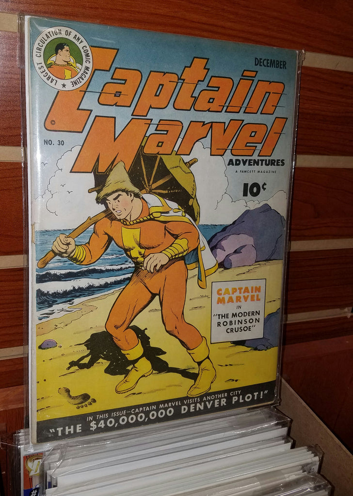 CAPTAIN MARVEL ADVENTURES #30 (1943 FAWCETT) C.C. BECK-FINE+