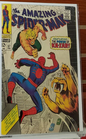 AMAZING SPIDER-MAN #57 (1968) KA-ZAR APPEARANCE