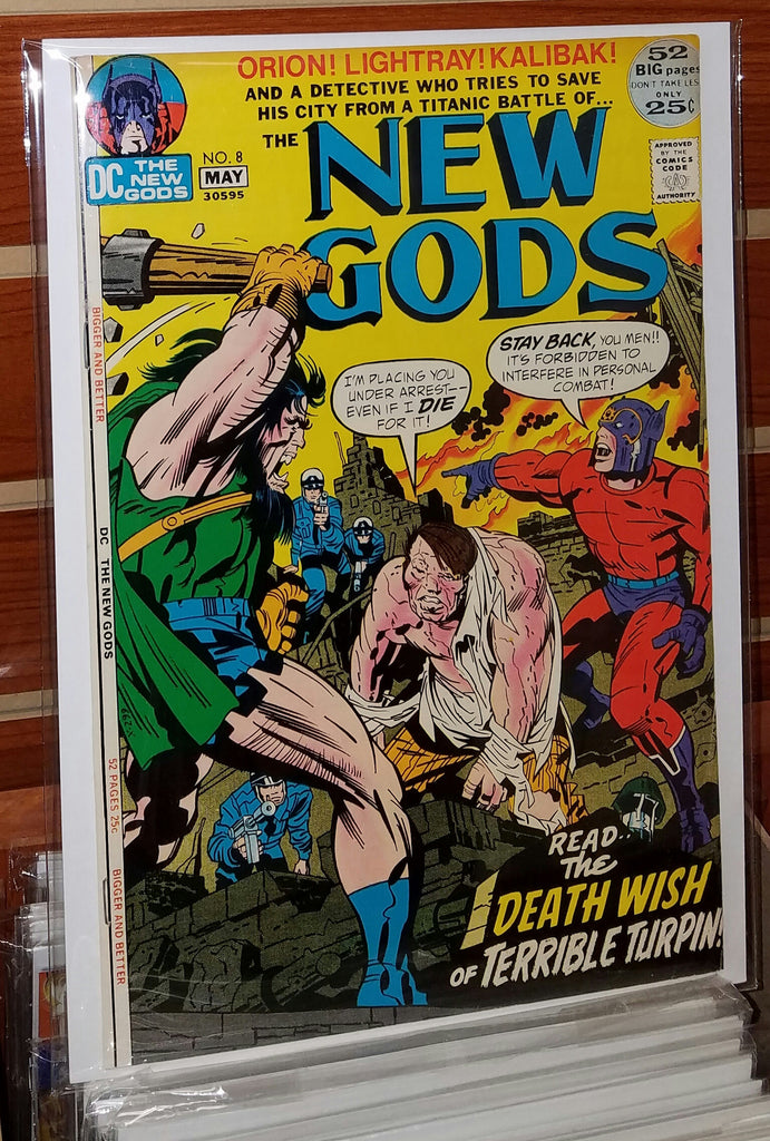 NEW GODS #8 (1972) JACK KIRBY-VF+