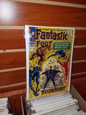 FANTASTIC FOUR #59 (1967) DOCTOR DOOM INHUMANS SILVER SURFER-FINE+