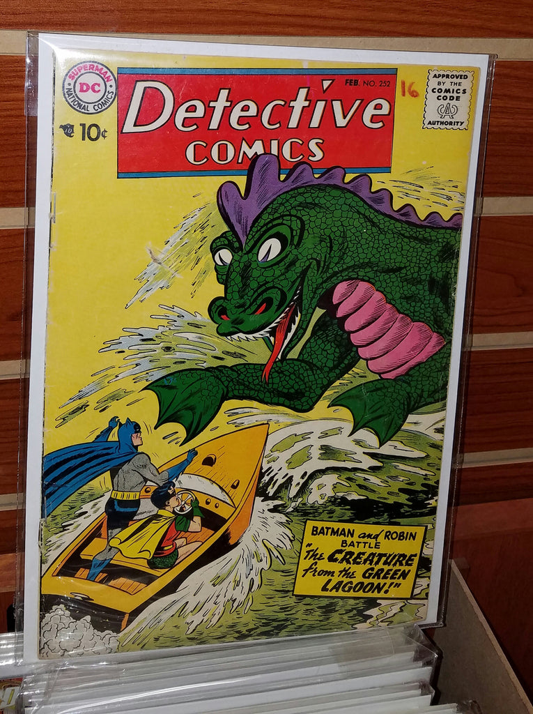 DETECTIVE COMICS #252 (1958) MANHUNTER APPEARANCE-FINE