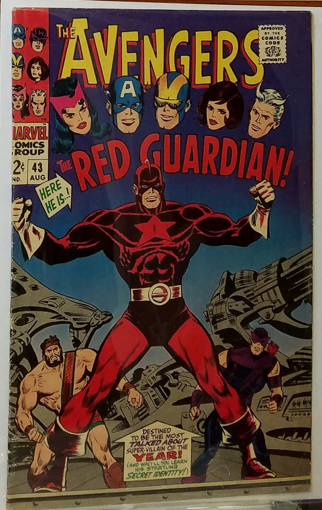 AVENGERS #43 (1967) 1ST APPEARANCE RED GUARDIAN-VF-