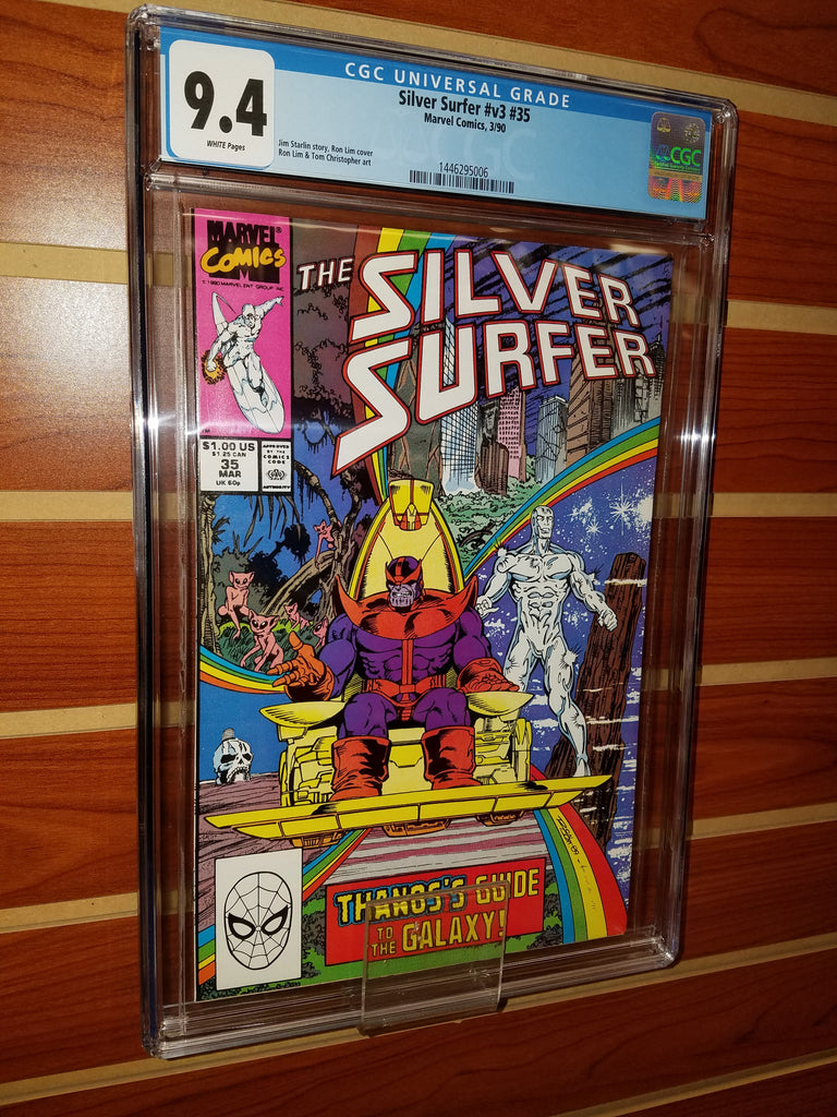 SILVER SURFER #35 CGC GRADED 9.4 WHITE PAGES THANOS INFINITY GAUNTLET