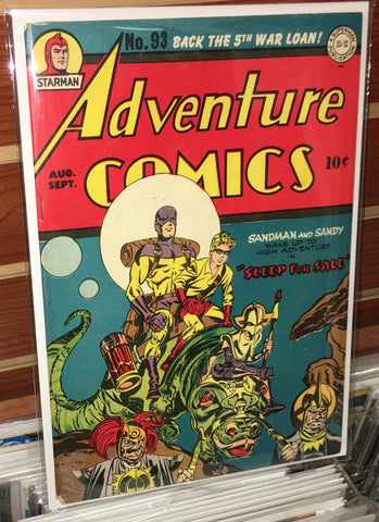 ADVENTURE COMICS #93 (1944) VF+ GOLDEN AGE JACK KIRBY ALFRED BESTER