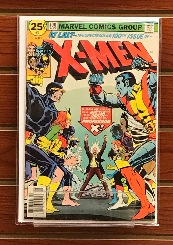 X-MEN #100 (1976) OLD TEAM VS. NEW TEAM-VG/FN