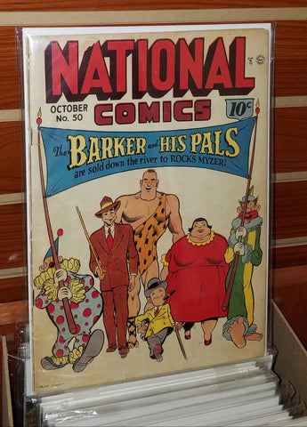 NATIONAL COMICS #50 (1945) JACK COLE COVER C.C. BECK-VG