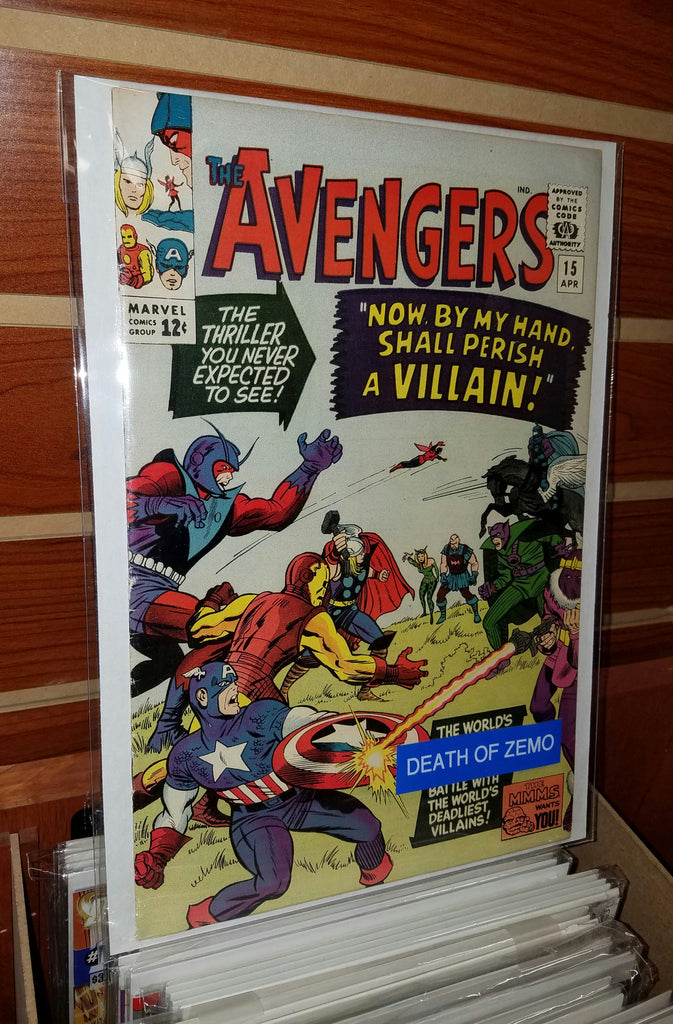 AVENGERS #15 (1965) DEATH OF ZEMO-FINE