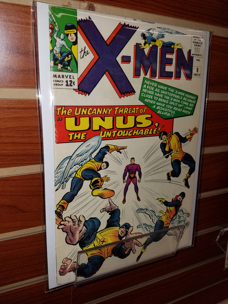 X-MEN #8 (1963) 1ST APPEARANCE UNUS JACK KIRBY COVER-VG/FN