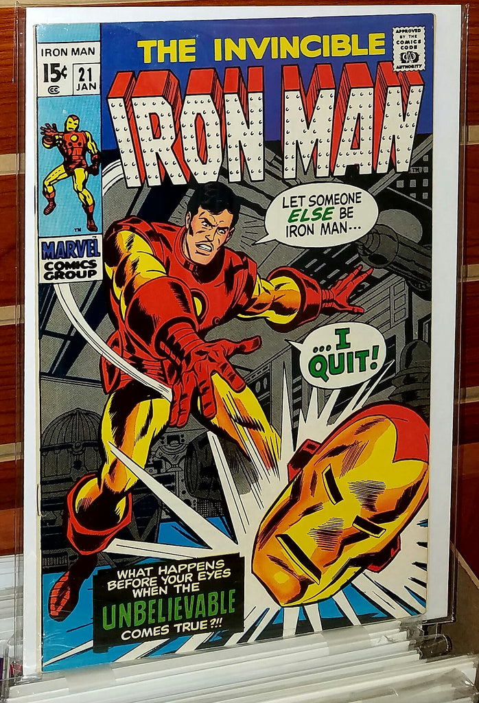 Iron Man #21 (1970) 1st Appearance Eddie March
