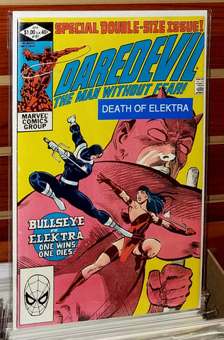 Daredevil #181 (1982) Death of Elektra