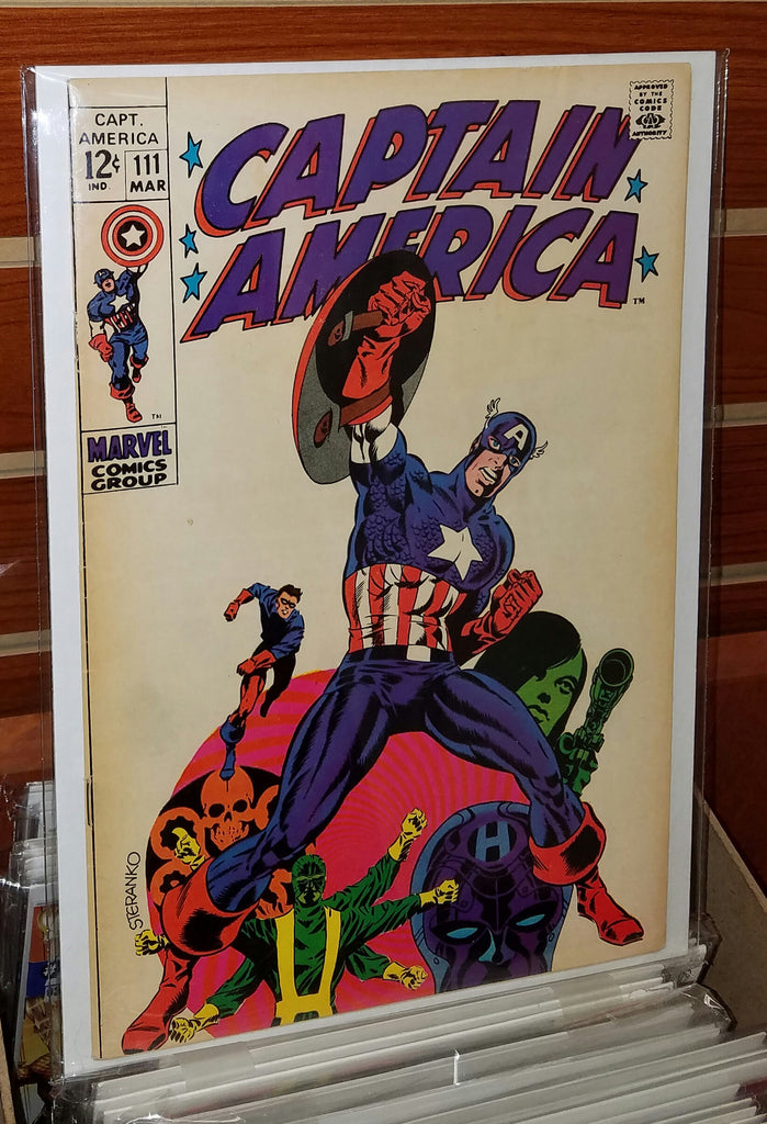 Captain America #111 (1969) Jim Steranko Cover