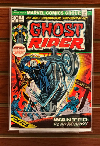 GHOST RIDER #1 (1973) 1ST APPEARANCE SON OF SATAN GIL KANE-NM