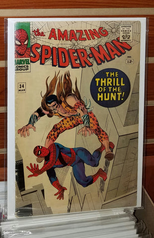 AMAZING SPIDER-MAN #34 (1966) 4TH APPEARANCE KRAVEN