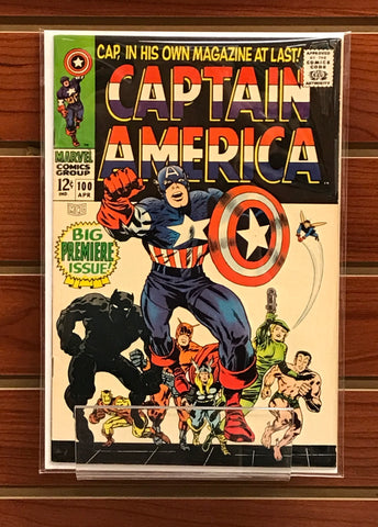 CAPTAIN AMERICA #100 (1968) ORIGIN RETOLD-VF+