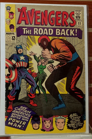 AVENGERS #22 (1965) JACK KIRBY COVER WALLY WOOD-FINE+/VF