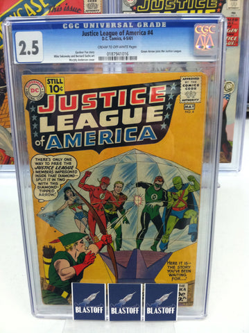 JUSTICE LEAGUE OF AMERICA #4 CGC 2.5 MARK WAID COLLECTION