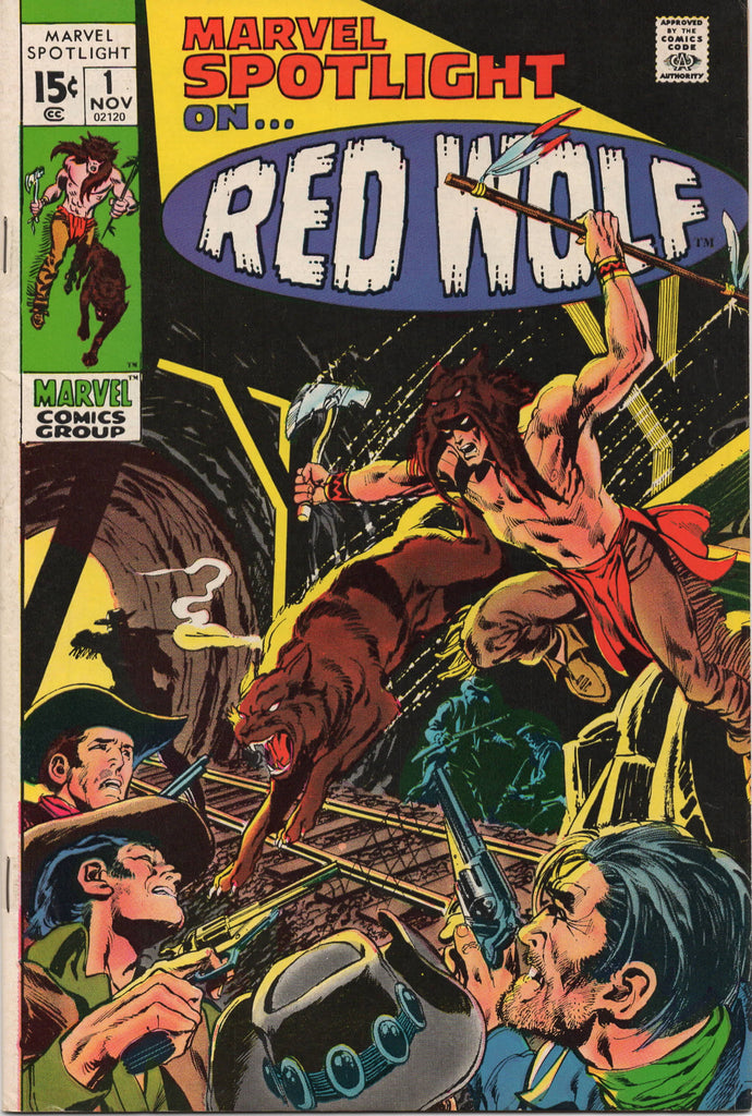MARVEL SPOTLIGHT #1 NEAL ADAMS COVER 1ST SOLO APPEARANCE AND ORIGIN OF RED WOLF-NM-