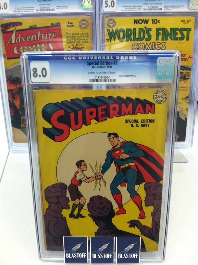 SPECIAL EDITION #3 SUPERMAN CGC 8.0 1944 MARK WAID COLLECTION