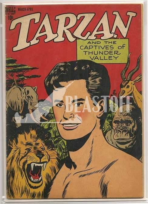 TARZAN #2 EDGAR RICE BURROUGHS-DELL/GOLD KEY (1948)-FINE+