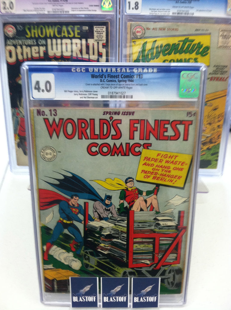 WORLD'S FINEST COMICS #13-CGC 4.0-MARK WAID COLLECTION