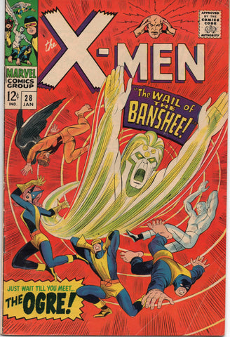 X-MEN #28 (1963) 1ST APPEARANCE OF BANSHEE-VG+/FN