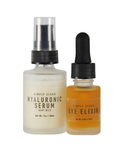Goat Milk Hyaluronic Serum and Eye Elixir