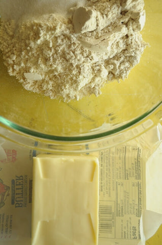 Making the delicious gluten free tart crust