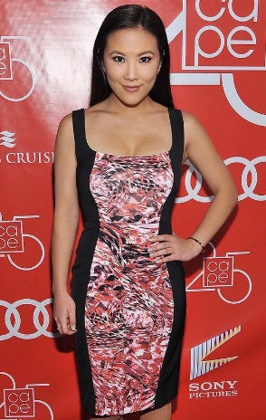 Japanese-American actress Ally Maki known for TV series Wrecked, wears EgoSoleil