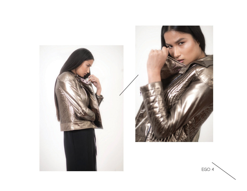 An empowering shiny jacket