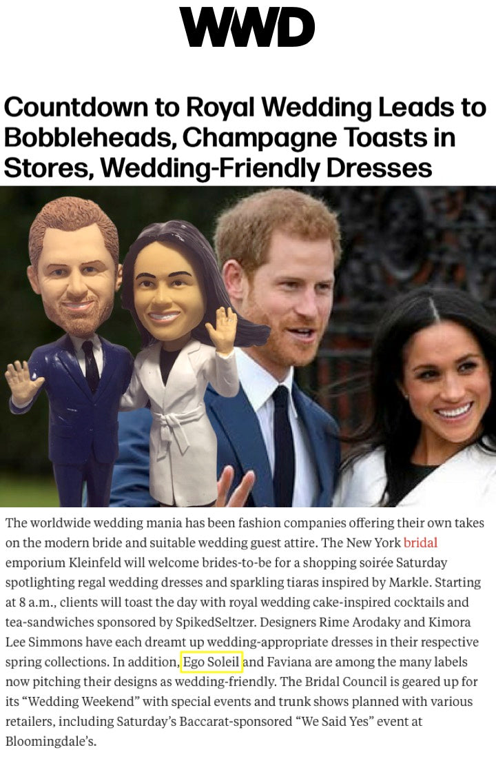 Royal Wedding Dresses - WWD Feature Ego Soleil Dresses