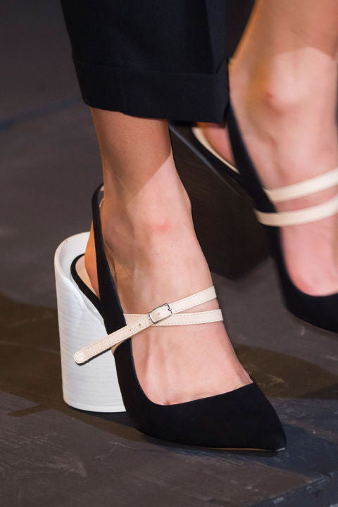Rounded heels are in this Spring