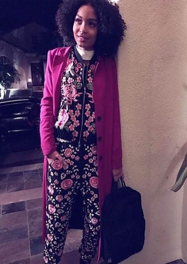 Black'ish, Grown'ish actress, Yara Shahidi rocks Egosoleil Limited Edition Magenta Coat