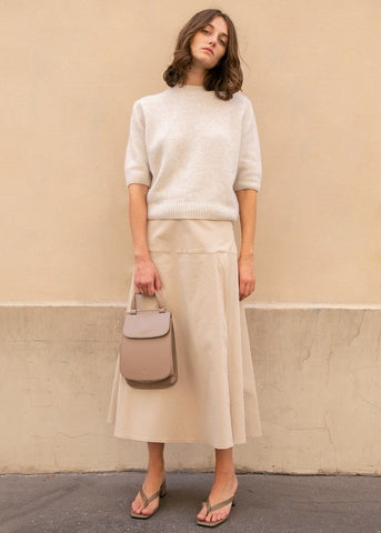 A-Line Panel Skirt in Beige skirt Room k