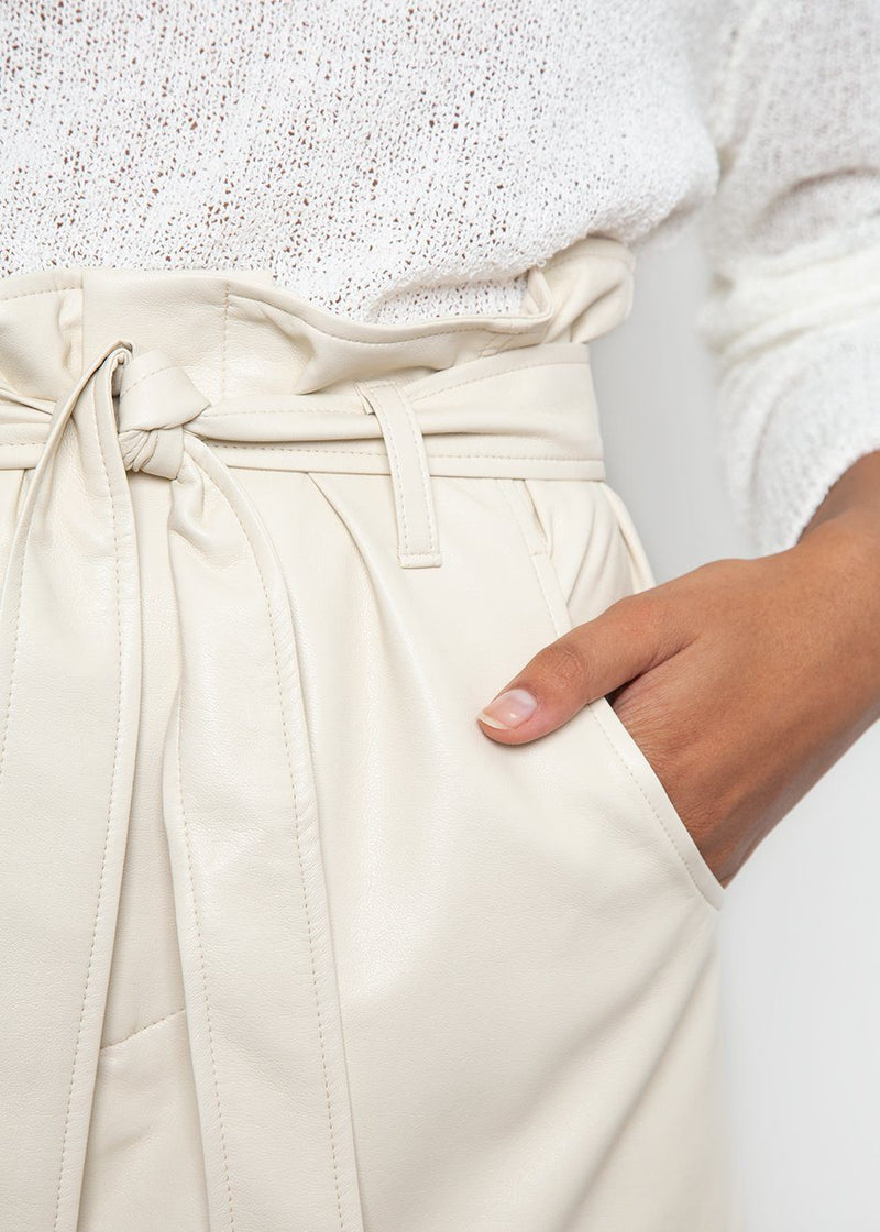 aeron cream leather skirt Aeron