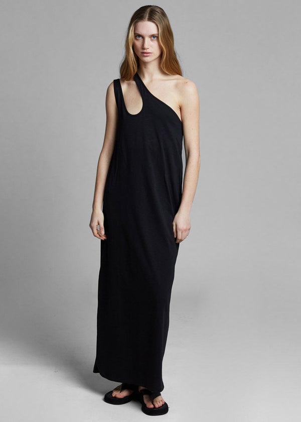 Agitti Cotton Long Dress by Loulou Studio in Black Dress Loulou Studio