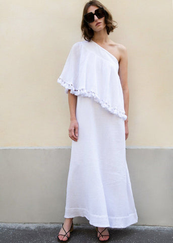 Aicha Dress in White by Rodebjer Dress Rodebjer