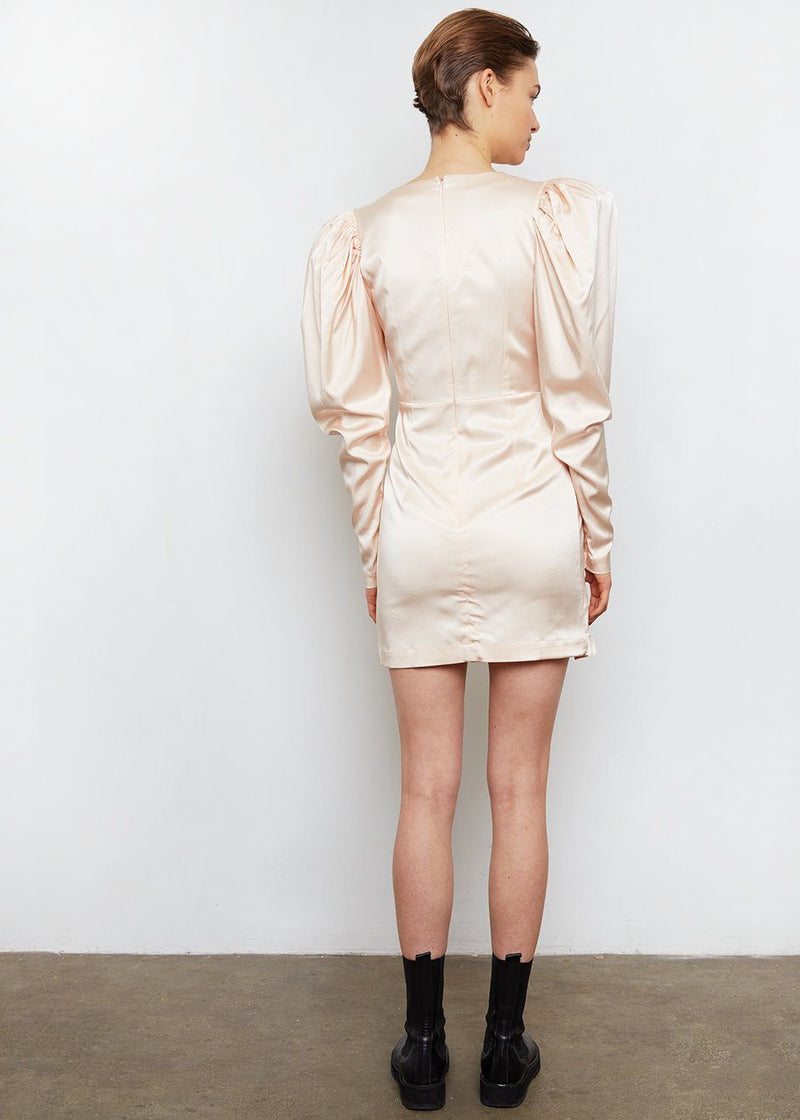Aiken Dress by ROTATE- Pastel Rose Tan Dress Rotate