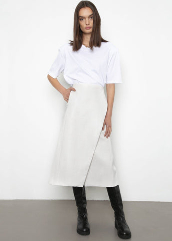 Albers Midi Skirt by Beaufille - White Skirt beaufille