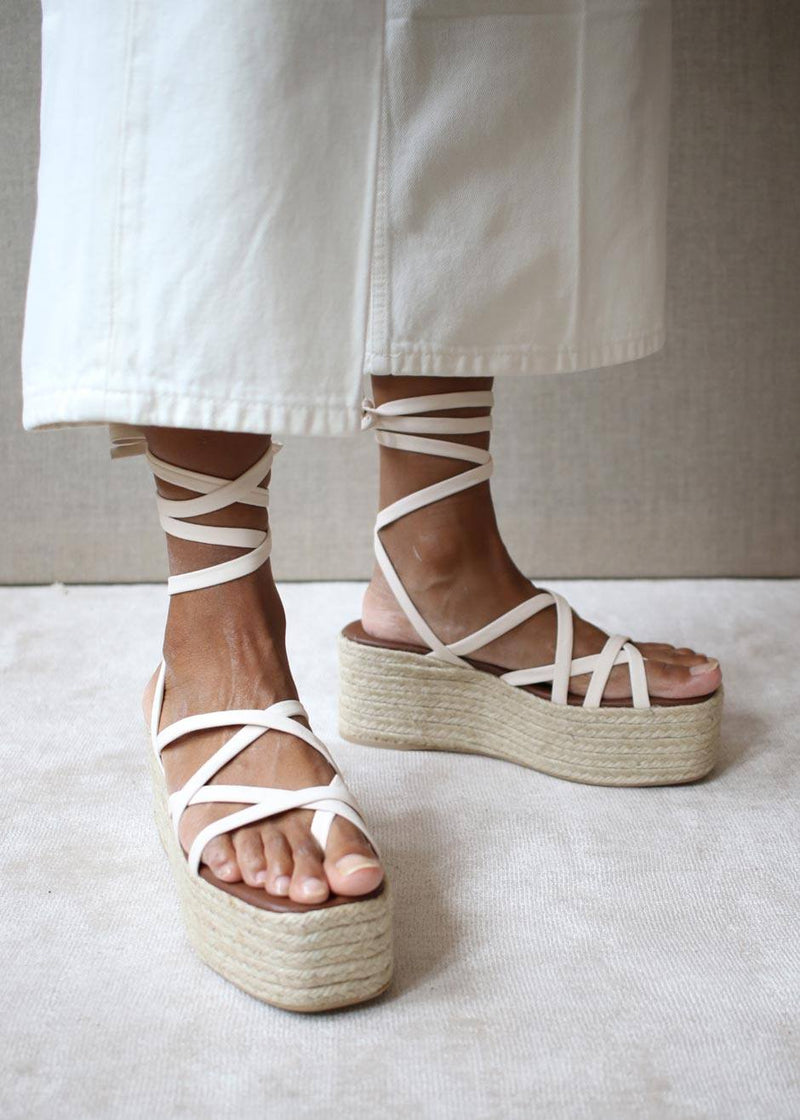 ALOHAS Paw-Paw Espadrille Sandals - Off White Shoes ALOHAS