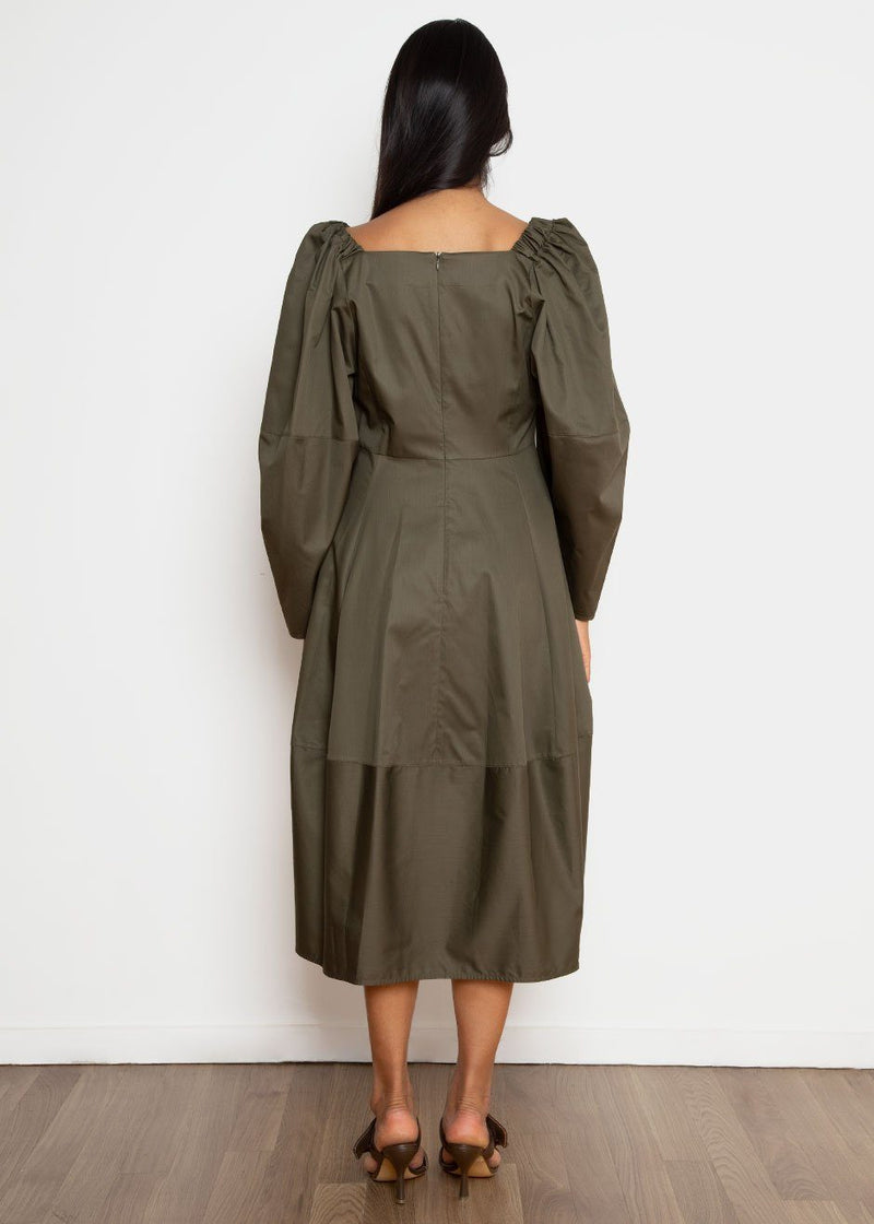 Anni Dress by Eudon Choi in Khaki Dress Eudon Choi