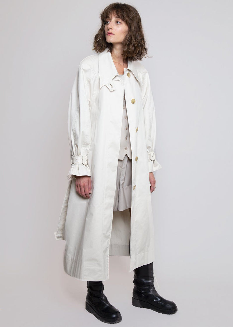 Armhole Stitch Trench Coat by Low Classic- Beige trench Low Classic