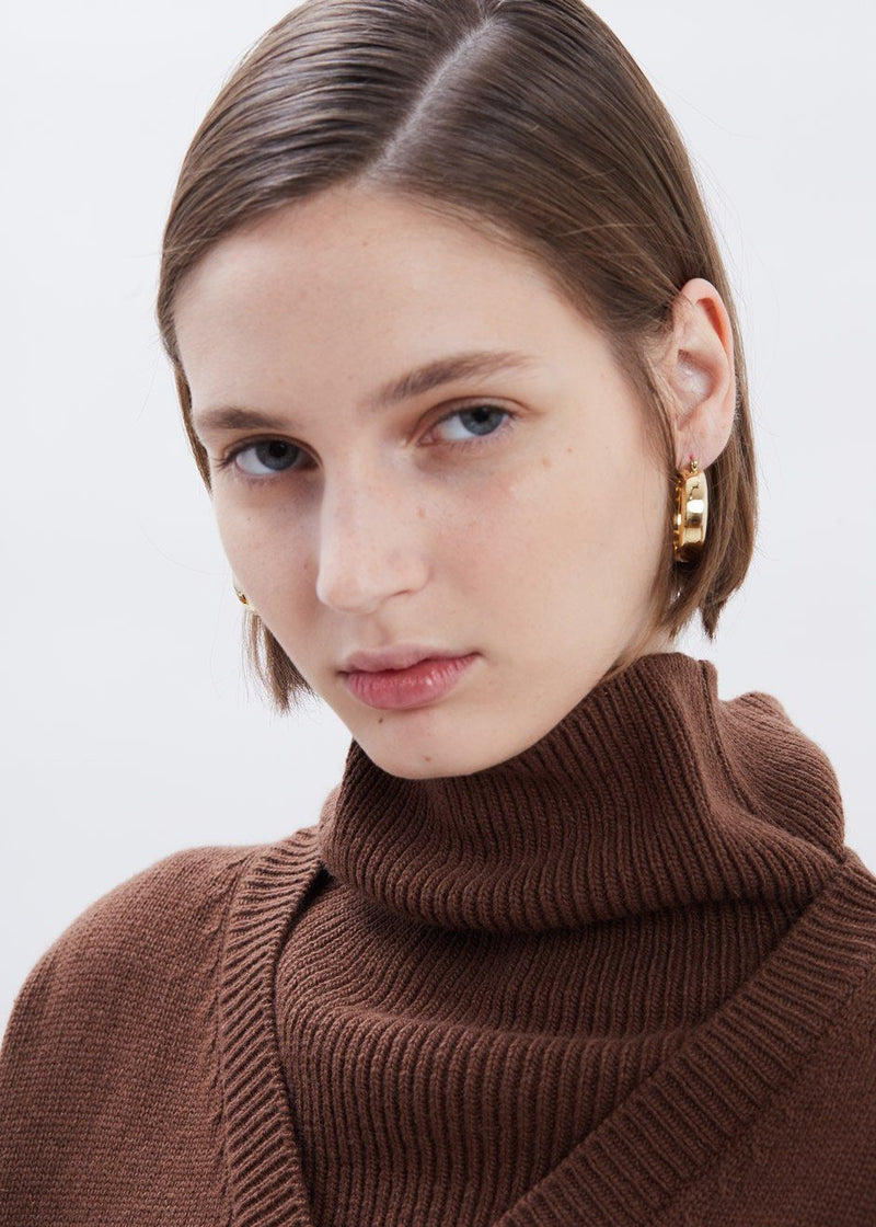 Band Earrings by Laura Lombardi in Gold Earrings Laura Lombardi