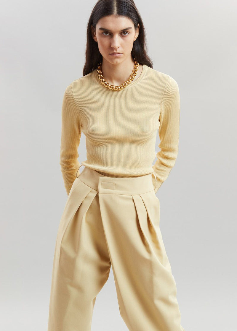 Basel Open Back Knit Top by Remain Birger Christensen in Italian Straw Top Remain