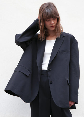 Bea Boxy Blazer in Black Blazer The Frankie Shop