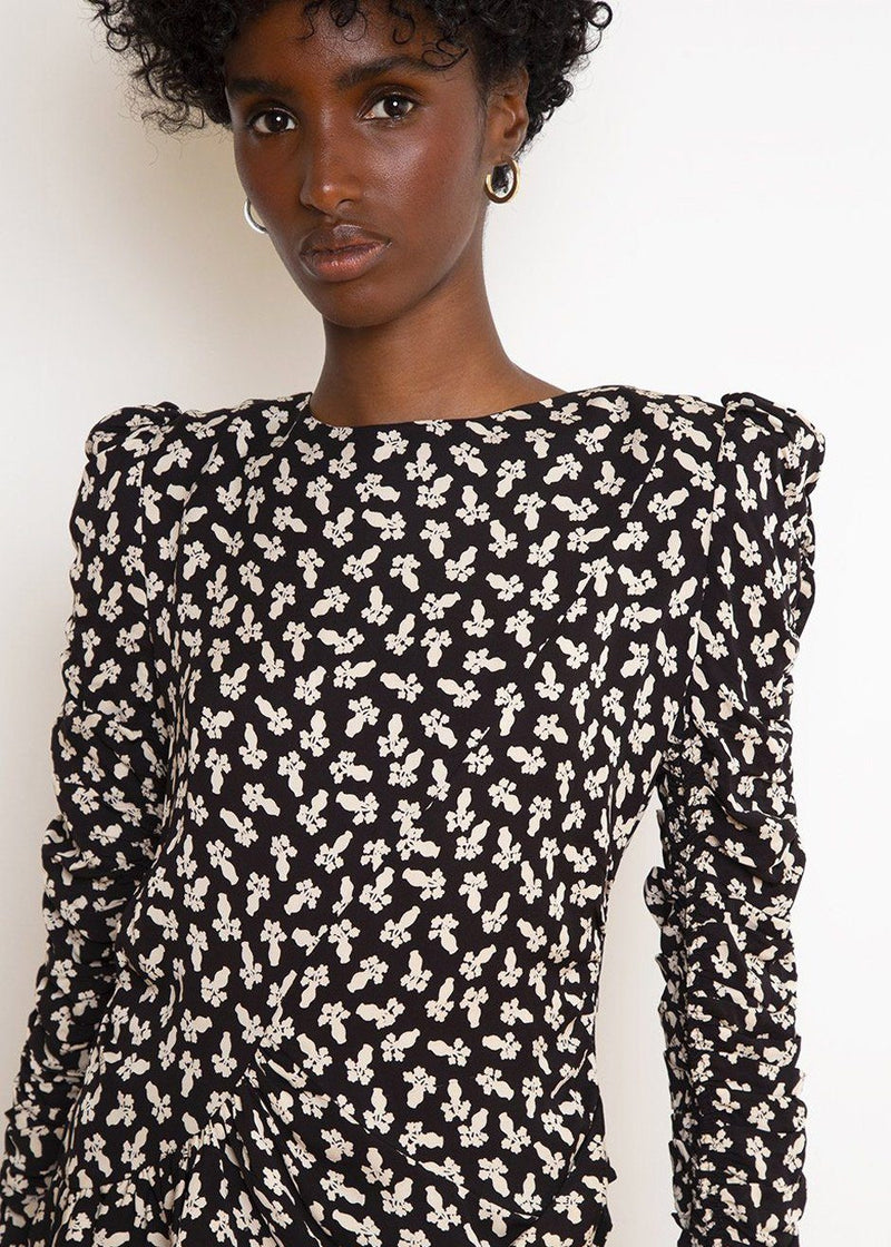 Beija Shirred Top by Les Coyotes de Paris in French Flower Top Les Coyotes de Paris