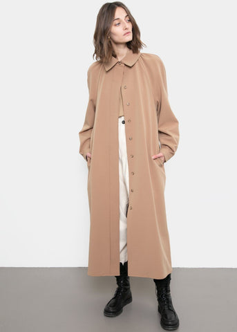 Belted Midi Dress- Camel Brown Dress Mainstay