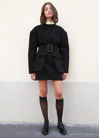 Black Patch Pocket Jacket Dress by Studio Cut dress Studio Cut