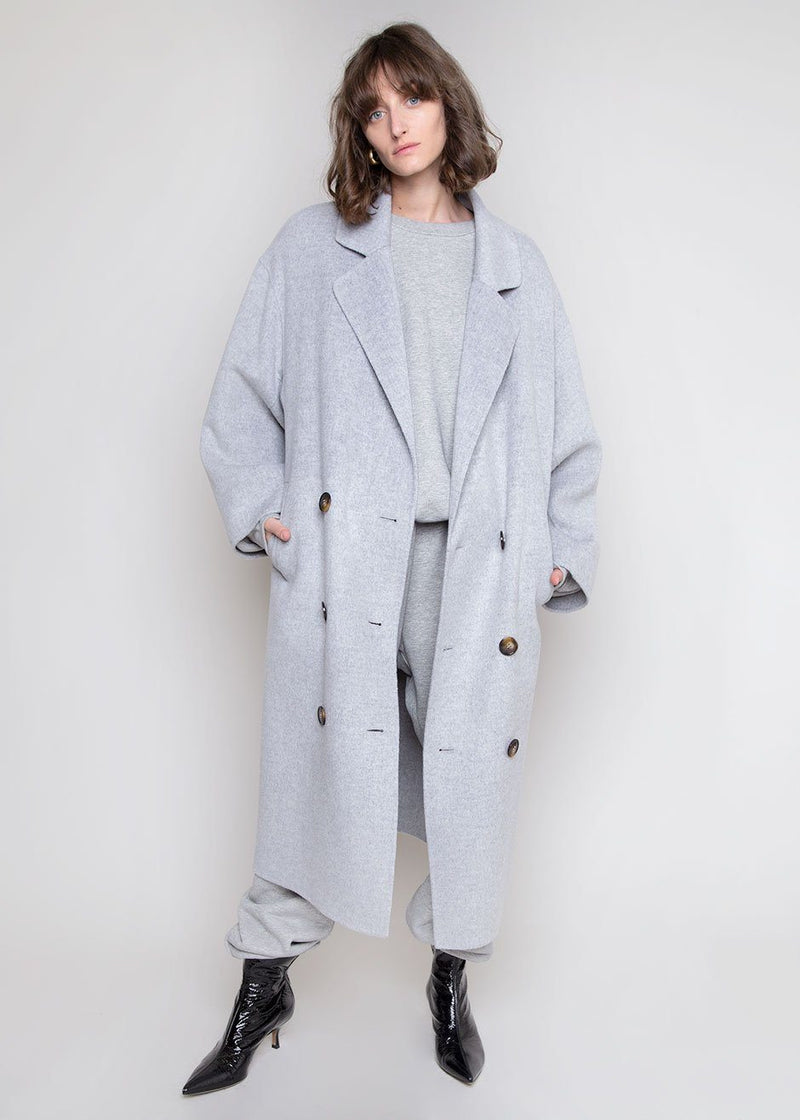 Borneo Coat by Loulou Studio in Grey Melange Coat Loulou Studio