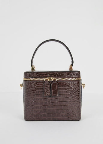 Brown Croc Box Bag Bag Garden